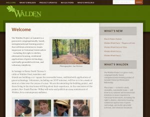 the walden project website