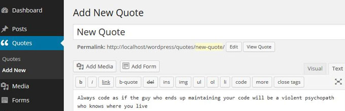 Simple Quotes Plugin